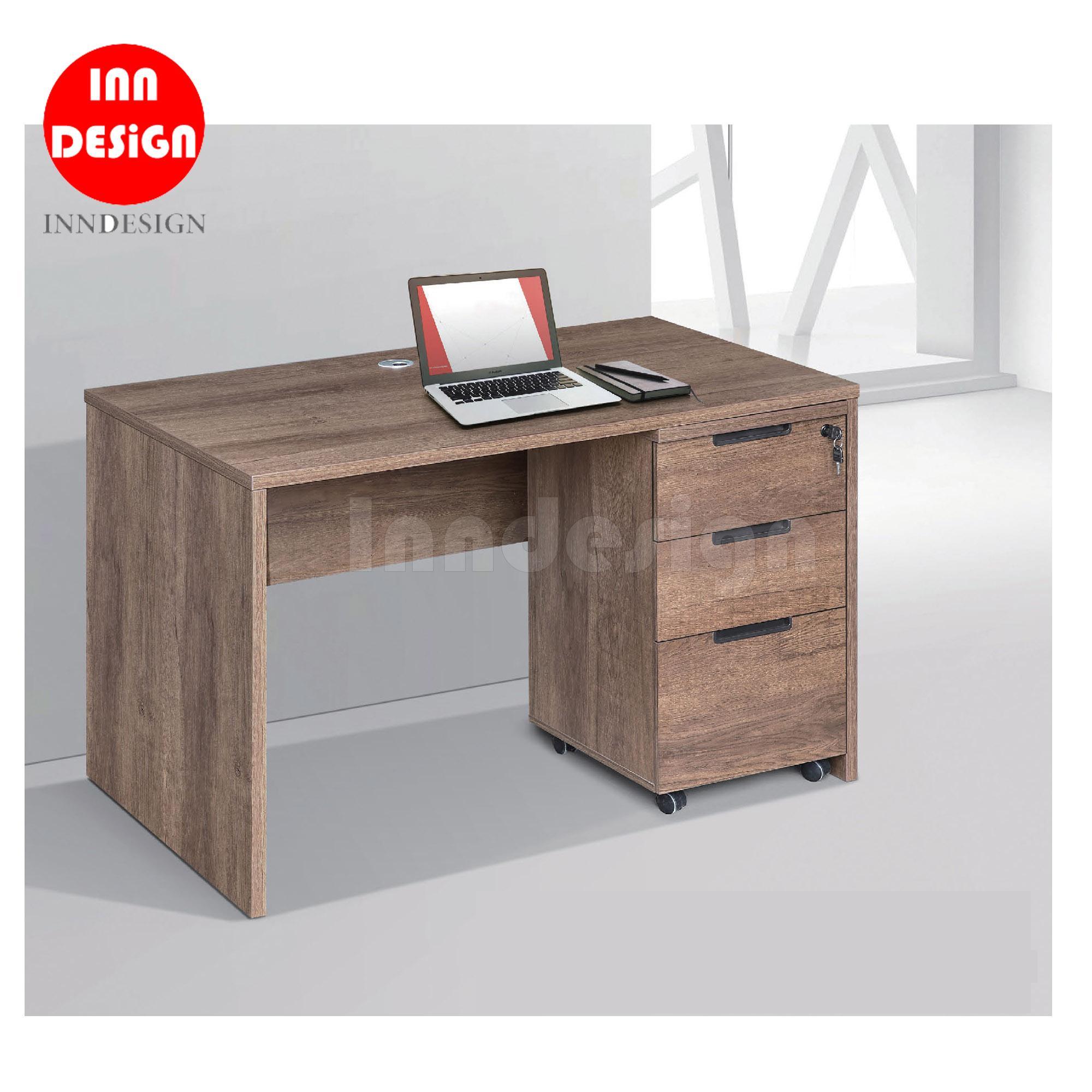 Meggie Study Table / Study Desk with Mobile Pedestal Cabinet (L100cm)