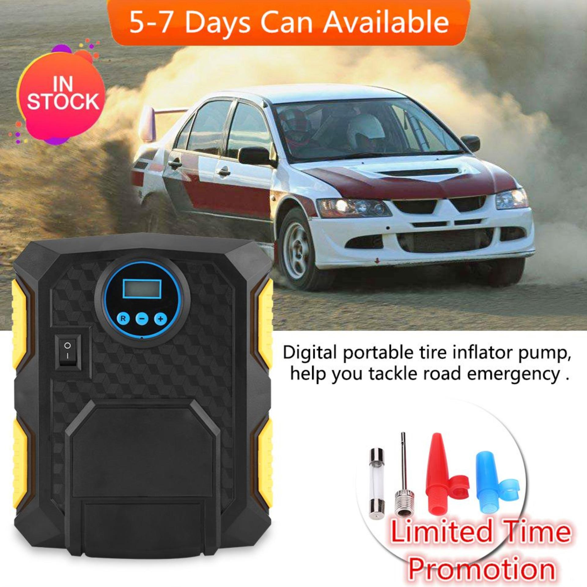Dc 12v Digital Portable Car Tire Inflator Pump Air Compressor 150psi For Cars Balls Bikes - Intl By 1buycart.