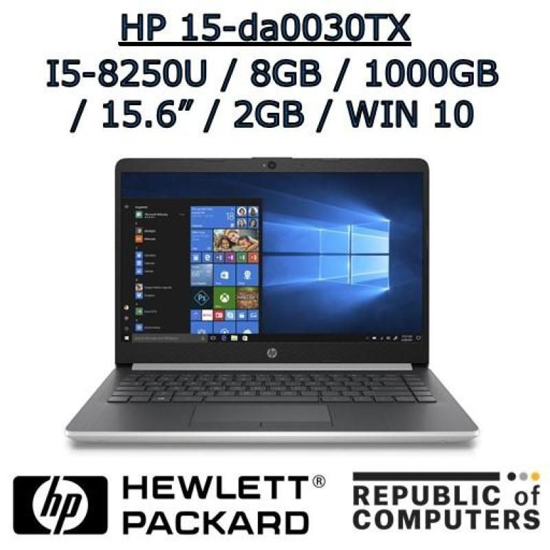 HP 15-da0030TX i5-8250U / 8GB / 1TB HDD / 2GB NVIDIA GRAPHICS / 15.6 / WINDOW 10