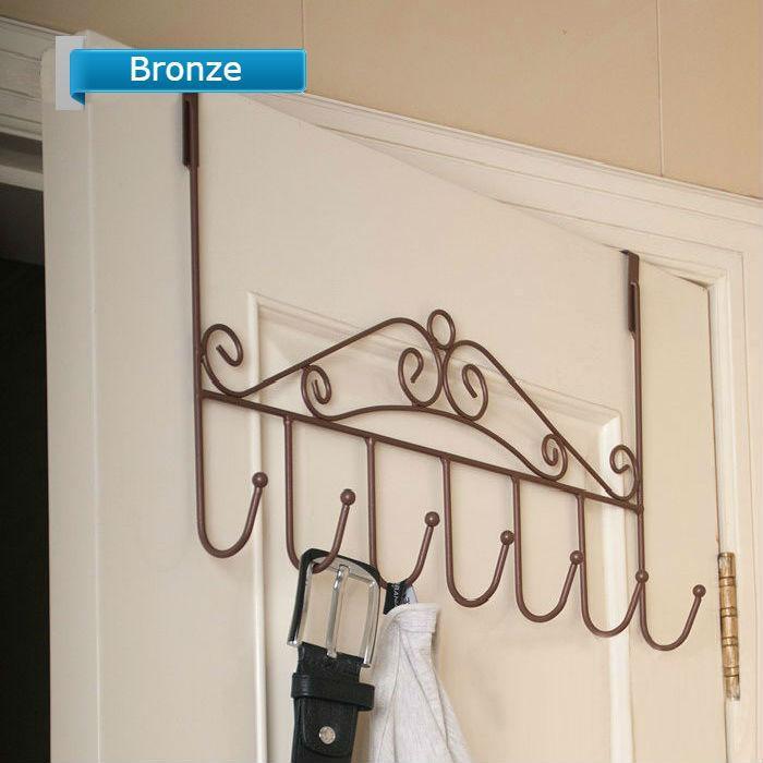 Door Multi-Purpose Hooking Rack * Bronze Colour * Suitable For Bedroom/Bathroom/Living/Kitchen