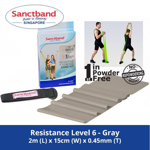 Sanctband Resistance Exercise Band Resistance Level 6 Gray Sanctband Discount