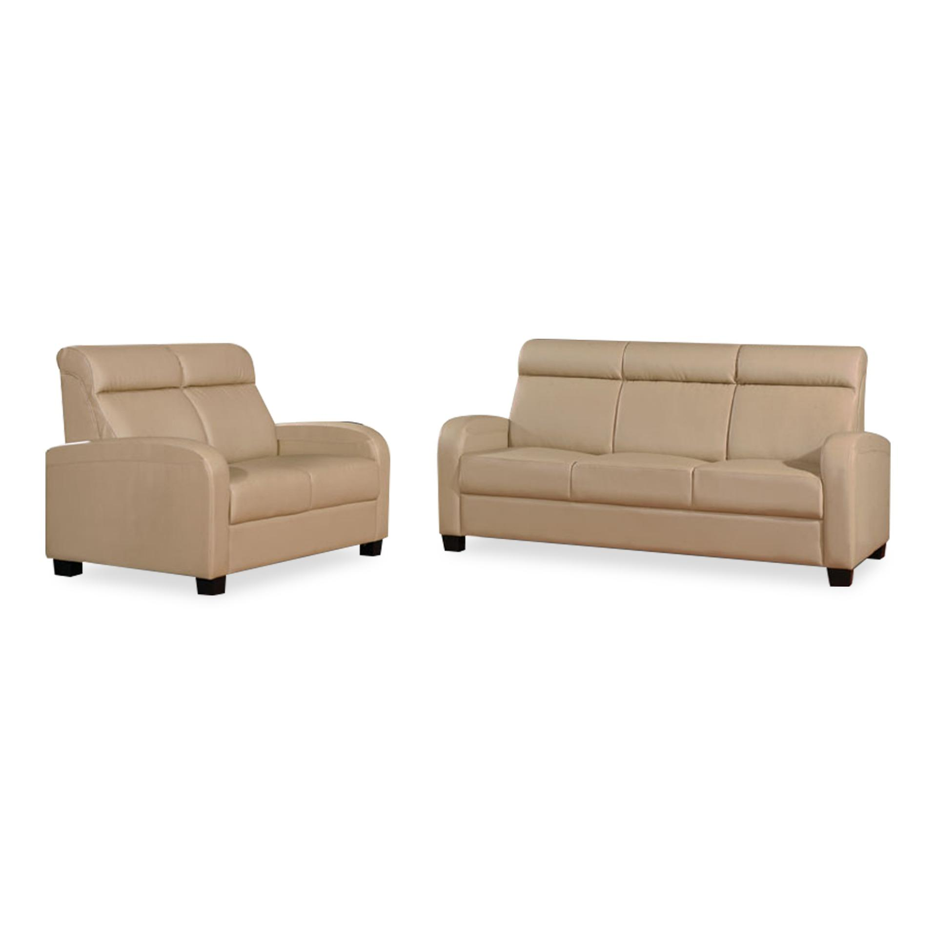 Diego PVC 3+2 Seater Sofa (FREE DELIVERY)(FREE ASSEMBLY)