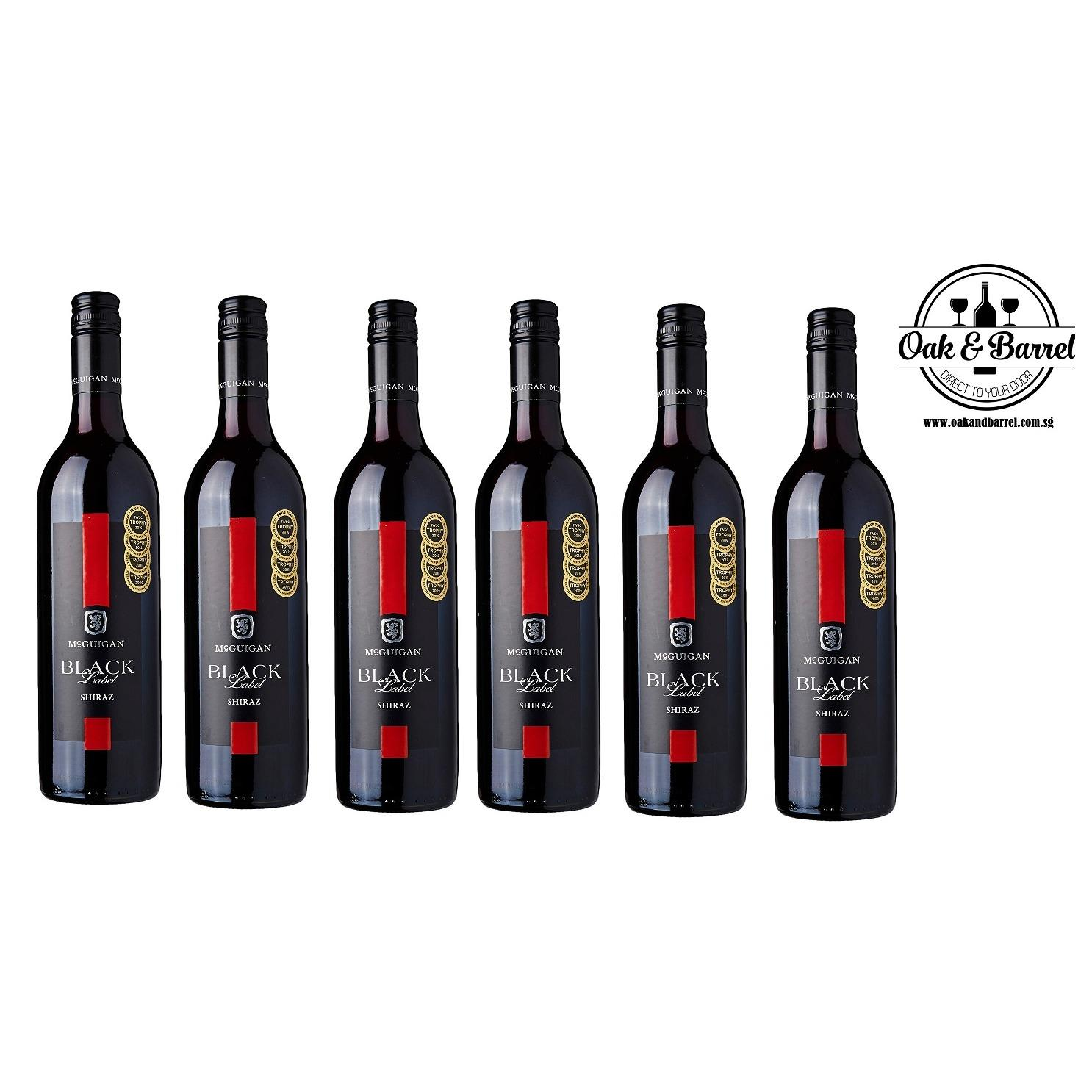 Deals For Mcguigan Black Label Shiraz 750Ml X 6