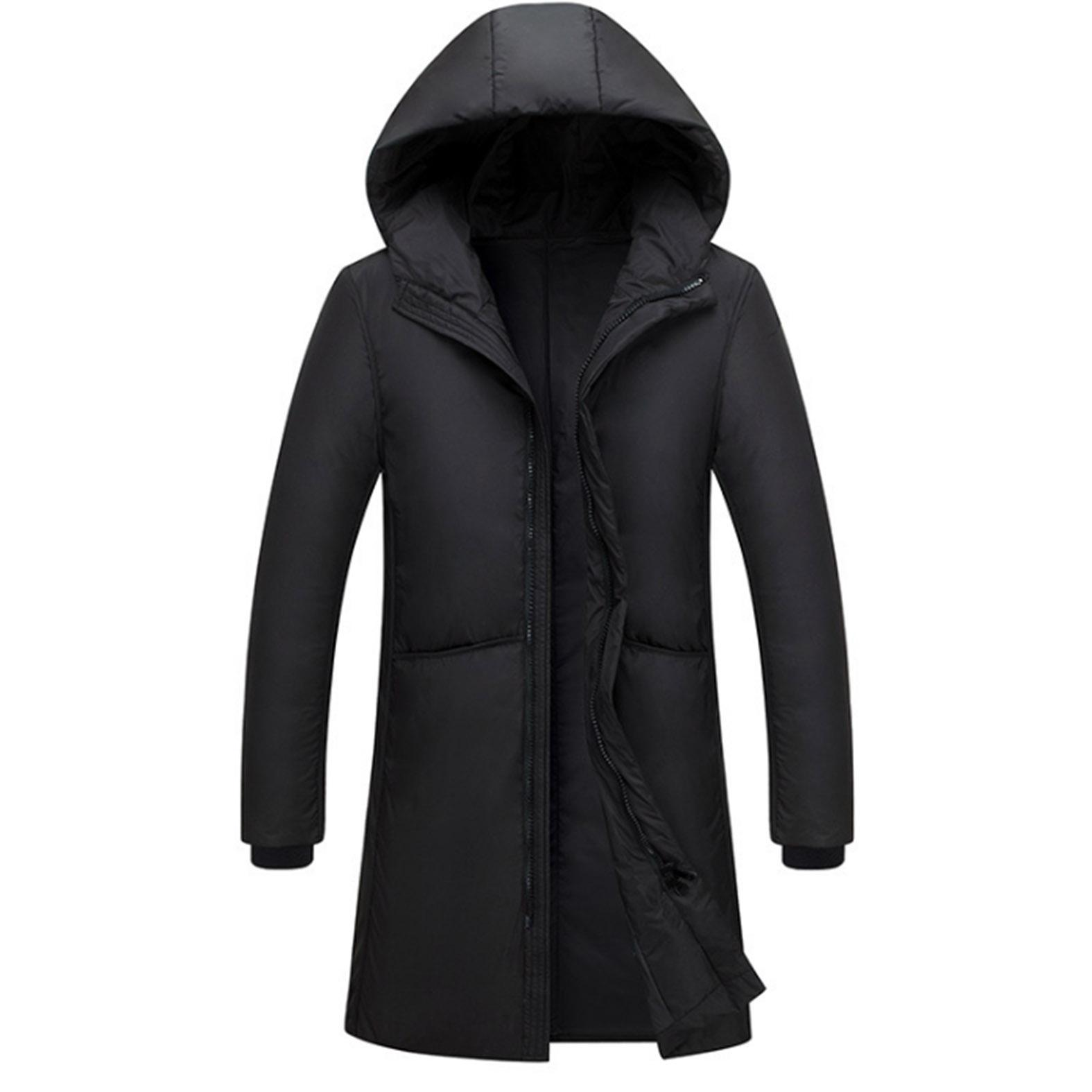 2019 Spring/autumn Mens Hooded Jacket Overcoat Fashion Lightweight Portable With Hat Plus Size 4xl 5xl Male Duck Down Slim Coat Extremely Efficient In Preserving Heat Men's Clothing