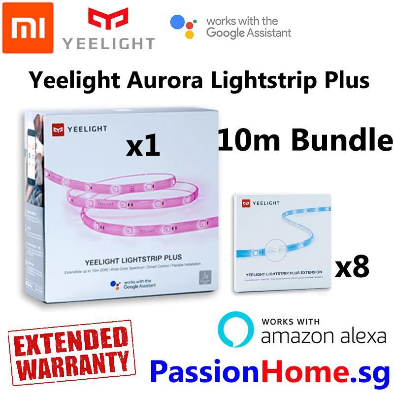 Yeelight Aurora Lightstrip Plus 2018 v2 - 10 Metre Bundle - Smart Wifi LED Light Strip - (Works with Google Home / Assistant, Amazon Alexa / Echo, IFTTT) - Intelligent Mi Home / Yeelight App - Xiaomi Mijia Home Automation - Passion Home Singapore