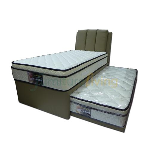 Furniture Living 5in1 Single Pull-Out Bed with Euro-Top Spring Mattress 9inch