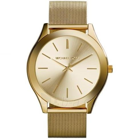 [new] Michael Kors Slim Runway Champagne Dial Gold-Tone Mesh 43mm Ladies Watch Mk3282 By Watch Centre.