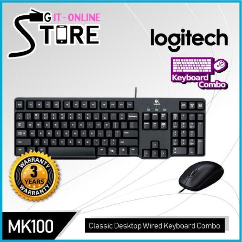 Logitech Classic Desktop Keyboard Combo MK100 Singapore