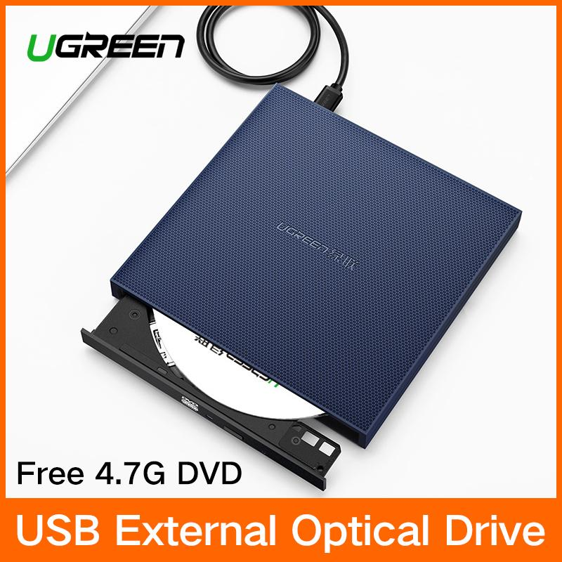 UGREEN USB Optical Drive External USB 2.0 CD/DVD-ROM Combo DVD RW ROM Burner for Dell Lenovo Laptop Windows/Mac OS USB DVD Drive - intl