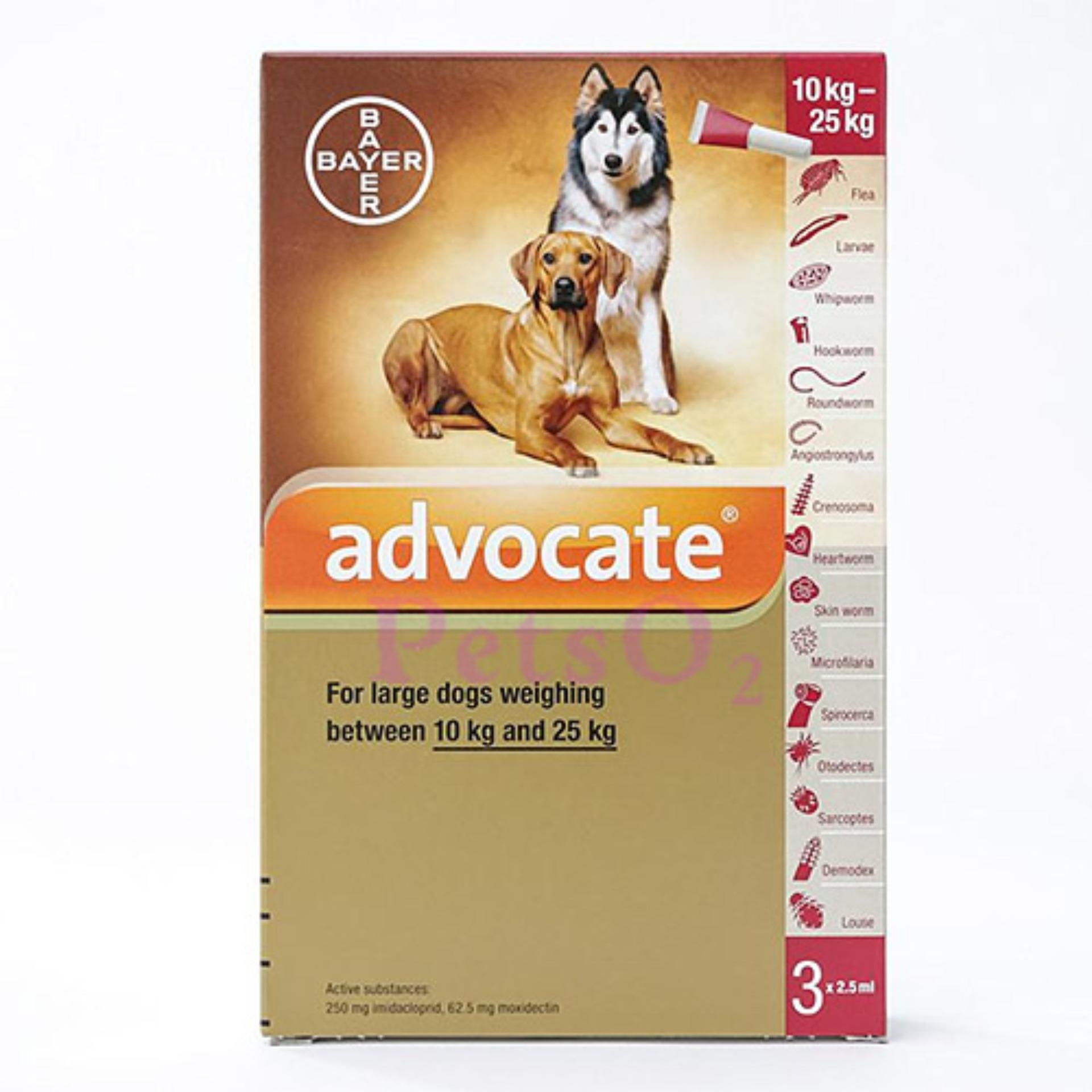Bayer Advocate Flea And Heartworm Treatment For Dogs (10 - 25kg).