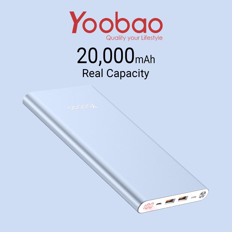 Ultra Thin Yoobao A2 20K Powerbank With Battery Life Display Coupon