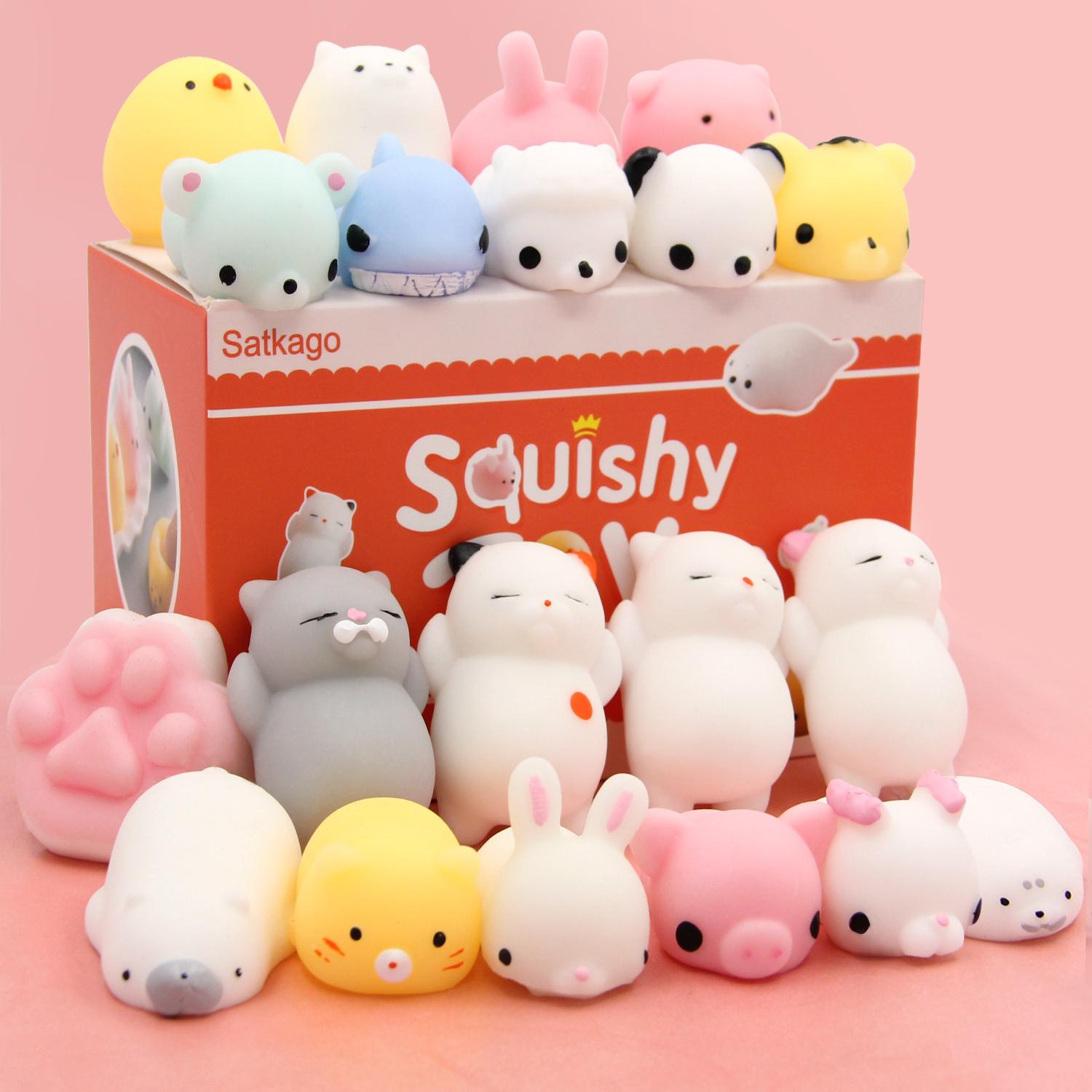 Vococal 20pcs Cute Kawaii Soft Tpr Squishy Squeeze Cartoon Animal Toy For Children Adults Relieves Stress Anxiety Home Decoration By Vococal Shop.
