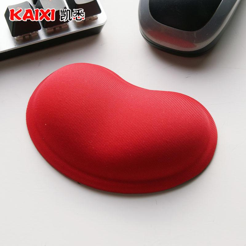 KAIXI Heart Shape Transparent Mouse Pad Bracer Wrist Splint Cartoon Creative Cute Silica Gel Office at Elbow Crystal Wrist Pad Stereo Wrist Rest Boys And Girls Rubber Mat Small Schick palm Tray Prevention Mouse Hand