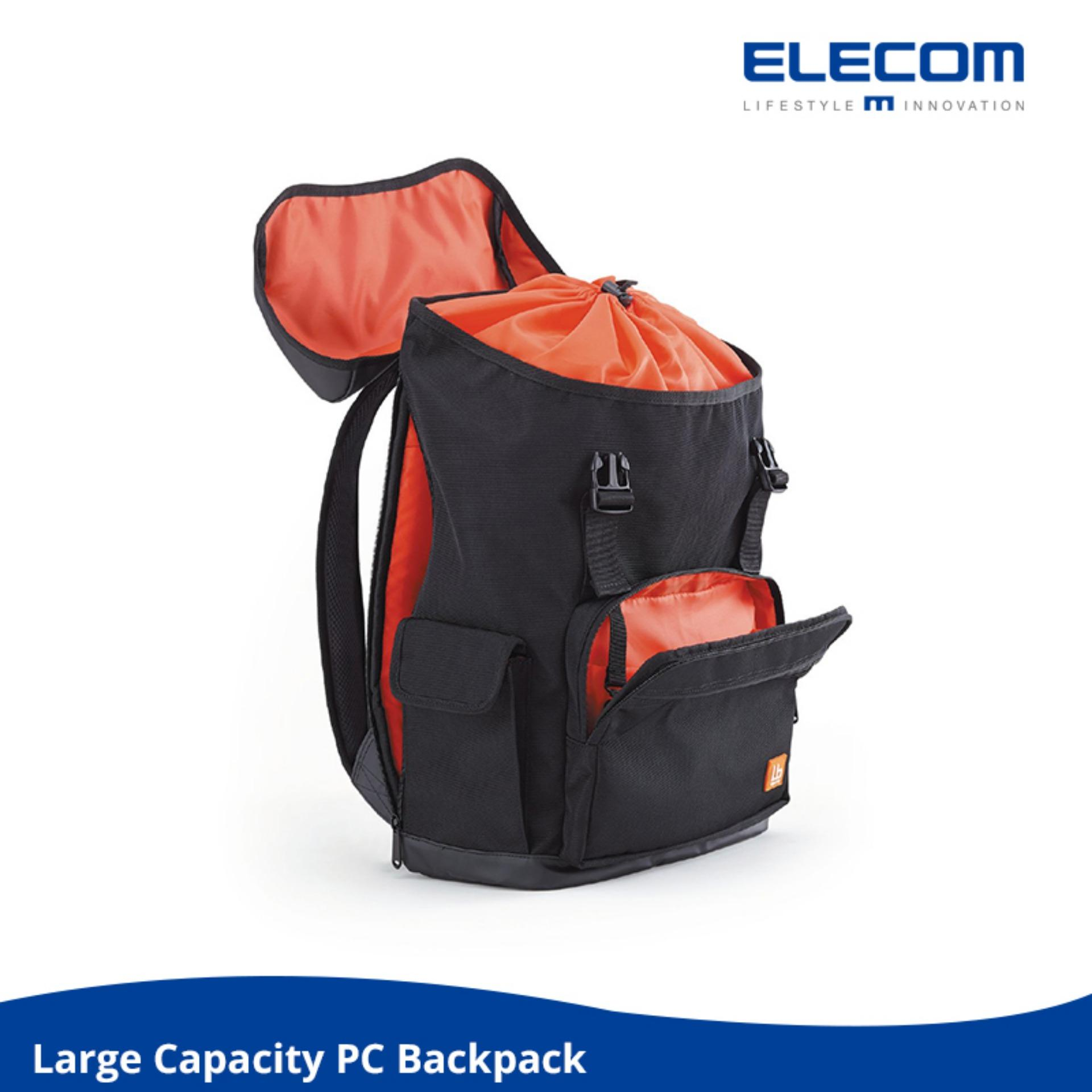 Elecom Bp02 Large Capacity Travel Laptop Business Backpack Black Cheap