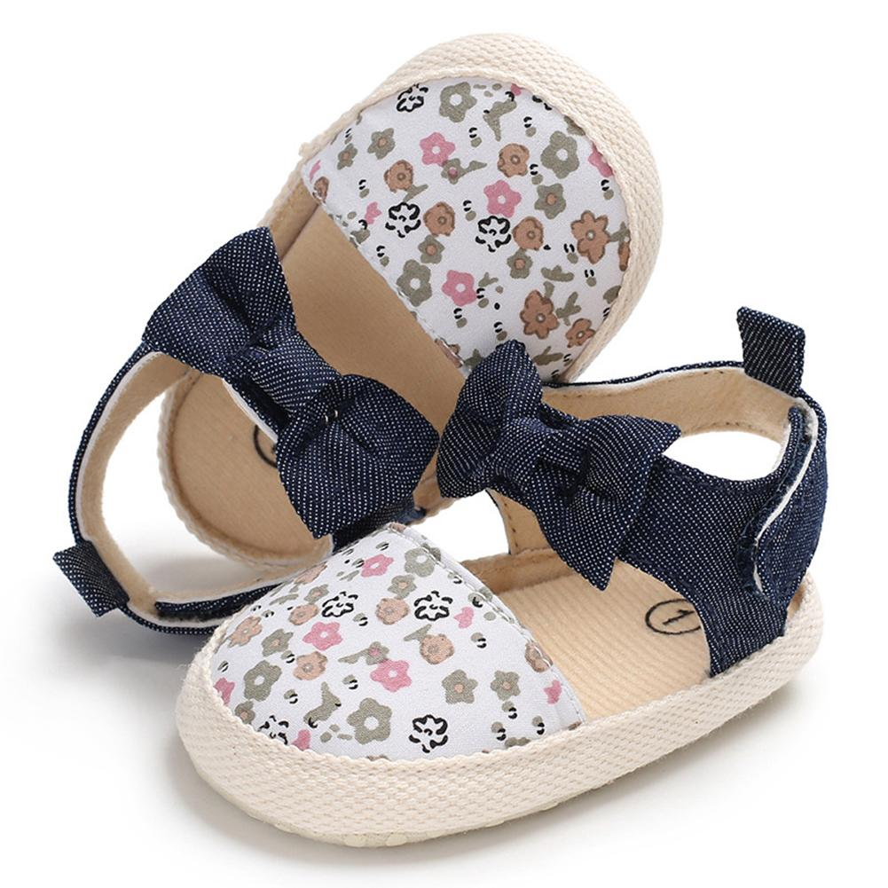 Baby Girls Cotton Sandals Soft Sole Non-slip Shoes Bowknot Princess Shoes  11-13cm 6484c1cbb9c1