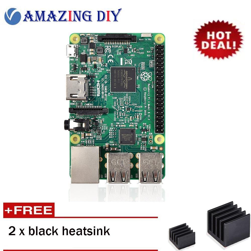Store Raspberry Pi 3 Model B 2016 Single Board Computer With High Performance Heatsink Set Raspberry Pi On China