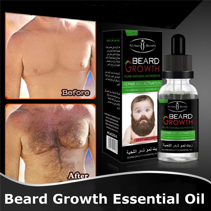 Aichun Beauty Men Liquid Beard Growth Essential Oil Fast Enhance Facial Whiskers Nutrition Moustache Beard Repair Growth By Initial Avenue.