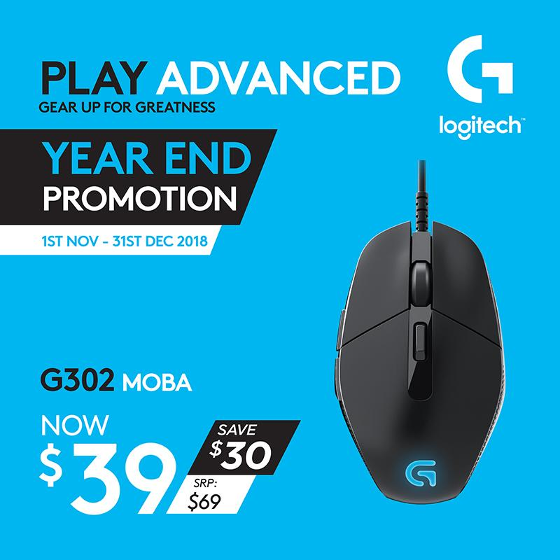 Logitech G302 Daedalus Prime MOBA Gaming Mouse #GamingYearEnd2018Promo