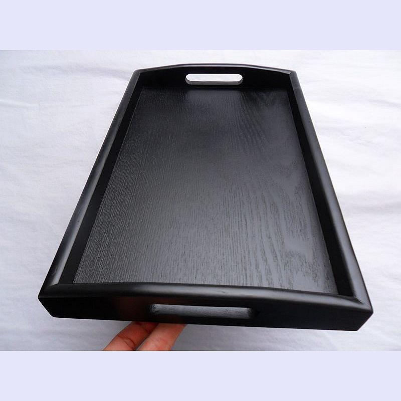 Hot Sale Black Wood Tray Rectangular Plate Tea Set Tea Tray European Style Cha Shui Bei Tea Tray By Taobao Collection.