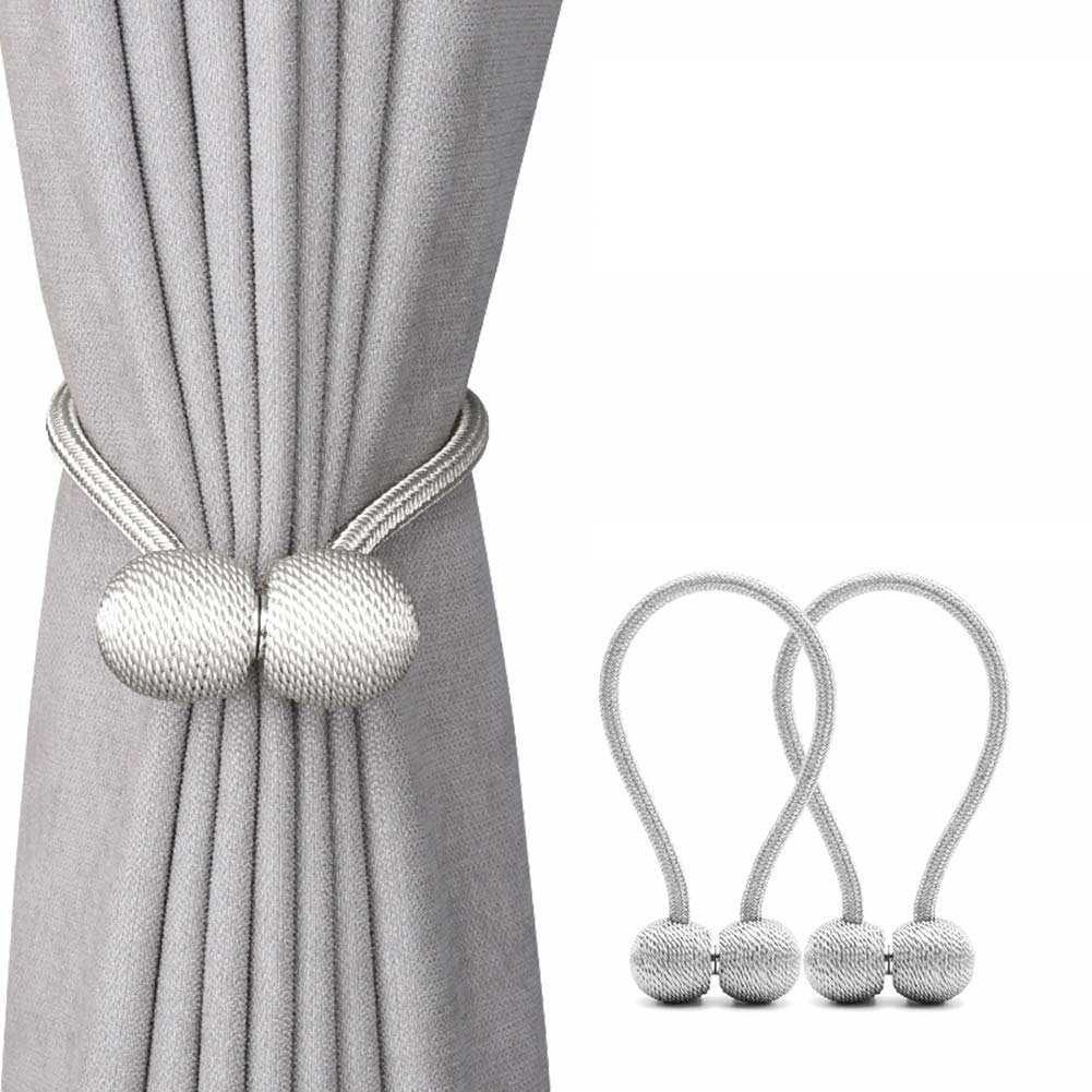 SOL HOME® 2pcs Magnetic Curtain Tie Back 47cm x 2pcs / Window Curtain Rope / Window Curtain Tiebacks Tie Backs by ShopOnlineLah