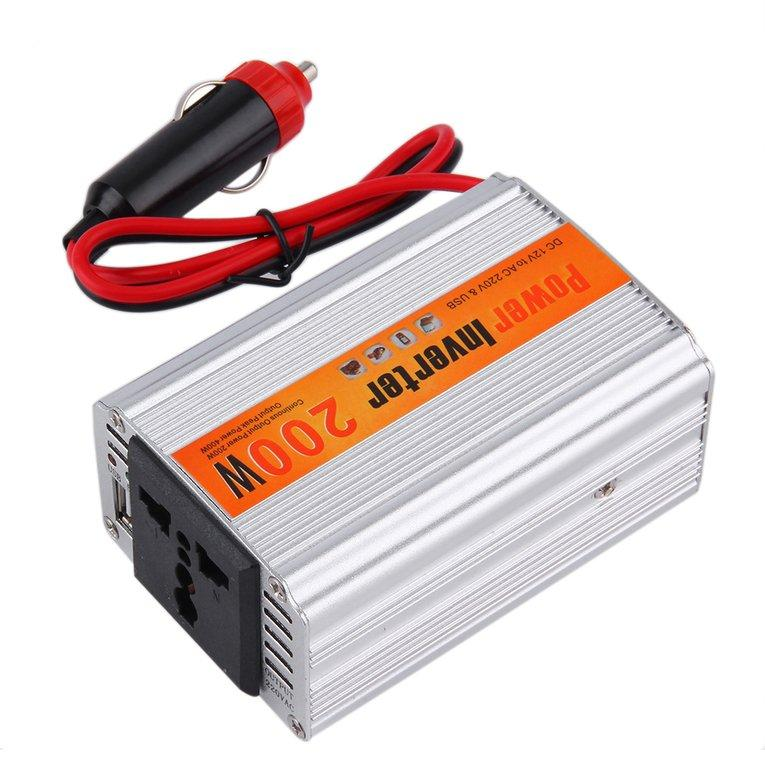 Buy Osman 200W Car Auto Inverter Power Supply Adapter 12V Dc To 220V Ac Laptop Computer Singapore