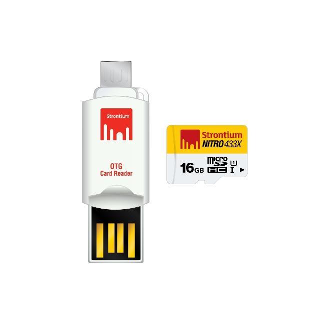 Strontium 16Gb Microsd Nitro 433X Uhs 1 W Otg Card Reader Strontium Discount