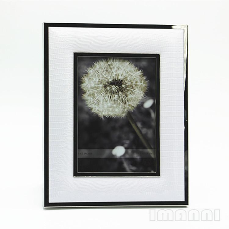 Popularity Rectangular IKEA Metal Painting Frame Photo Frame White Leather Photo Frame Tabletop HYUNDAI European Style 6-Inch 7/Inch