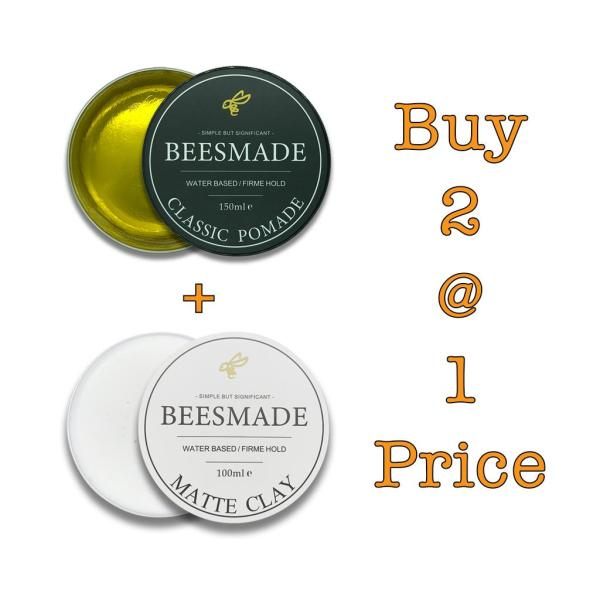 Buy *Bundle Deal* BEESMADE Hair Classic Pomade + Matte Clay Singapore