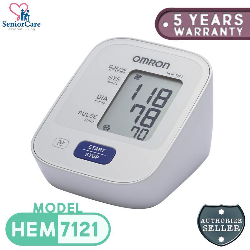 Omron HEM 7121 Upper Arm Blood Pressure Monitor BPM (5 Years Warranty)
