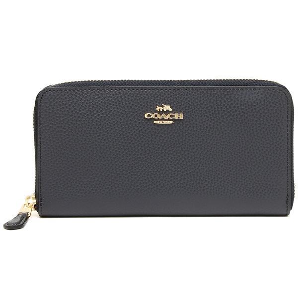 Coach Accordion Zip Wallet Wristlet Light Gold / Midnight # F16612 + Gift Receipt