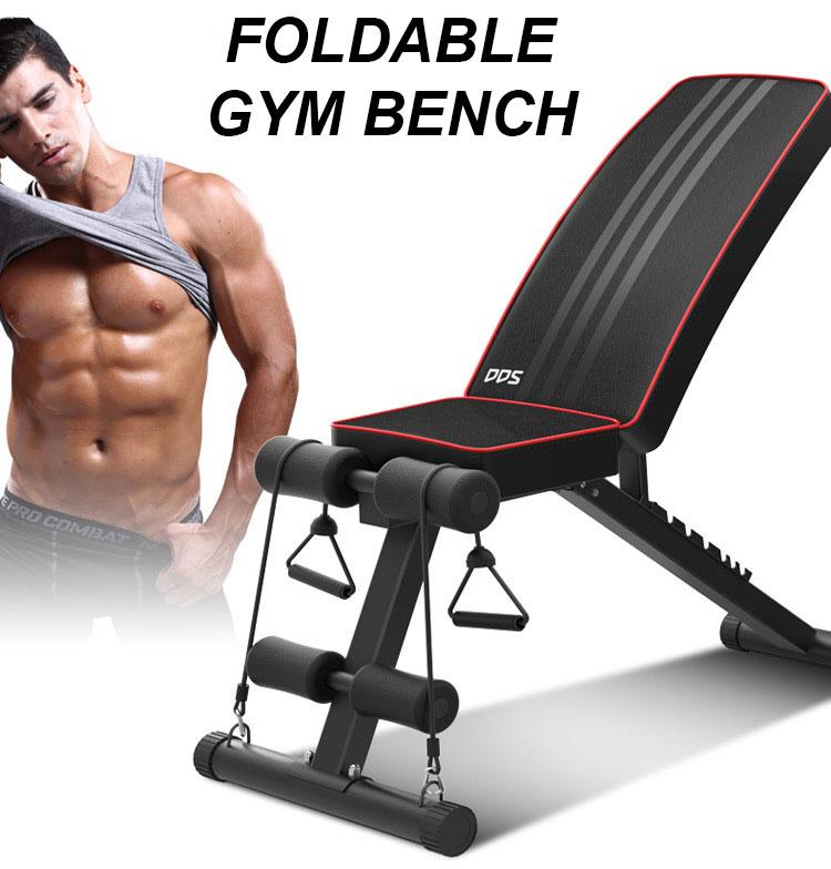 Foldable Adjustable Workout Bench Gym Bench By Pepu.sg.