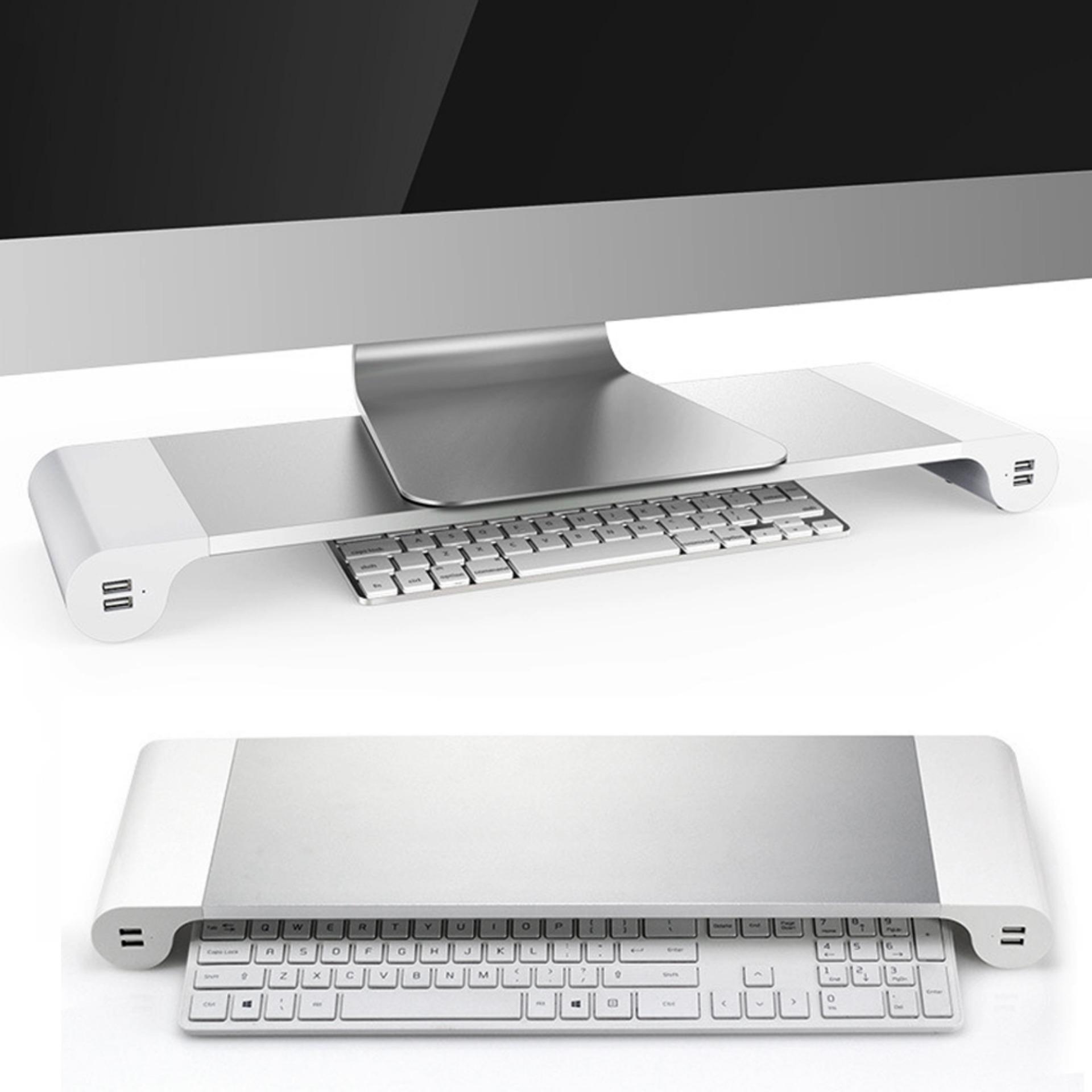 Vococal Aluminum Alloy Monitor Stand Space Bar Non Slip Computer Laptop Dock Desk