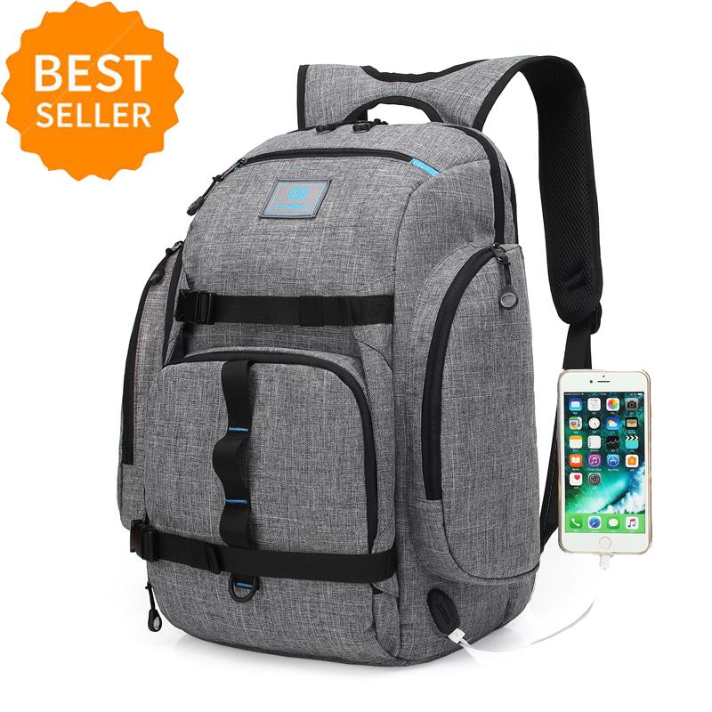 Get Cheap Men Backpack Anti Theft Multifunctional Oxford Casual Laptop Backpack With Usb Charge Waterproof Travel Bag Computer Bag Bagpack