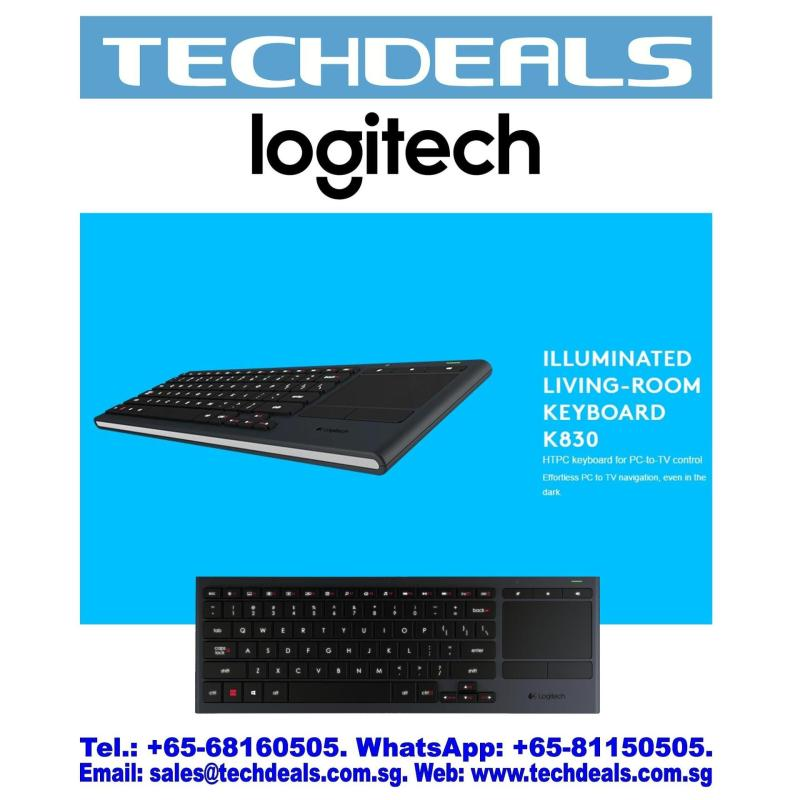 LOGITECH K830 ILLUMINATED LIVING-ROOM KEYBOARD(1Y) Singapore
