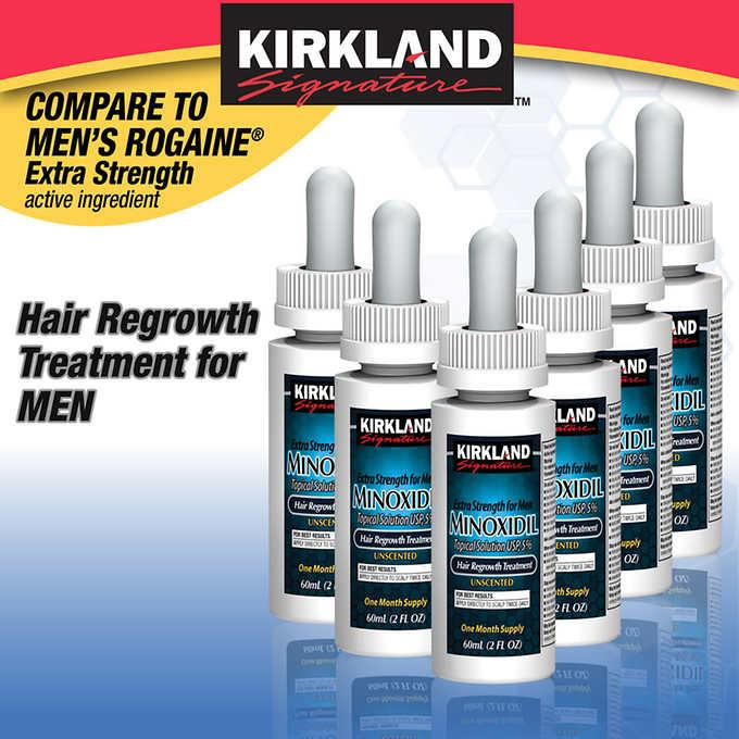 ☘️exp Nov 2020 1box Kirkland Hair Minoxidil 5% Extra Strength Hair Regrowth For Men Beard Growth Usa Best Seller By Minoxidil.