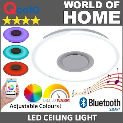 (IN-HOUSE INSTALLATION SERVICE) Ceiling light 40CM 26 Watt SMART LED Bluetooth speaker night lamp kids - Adults