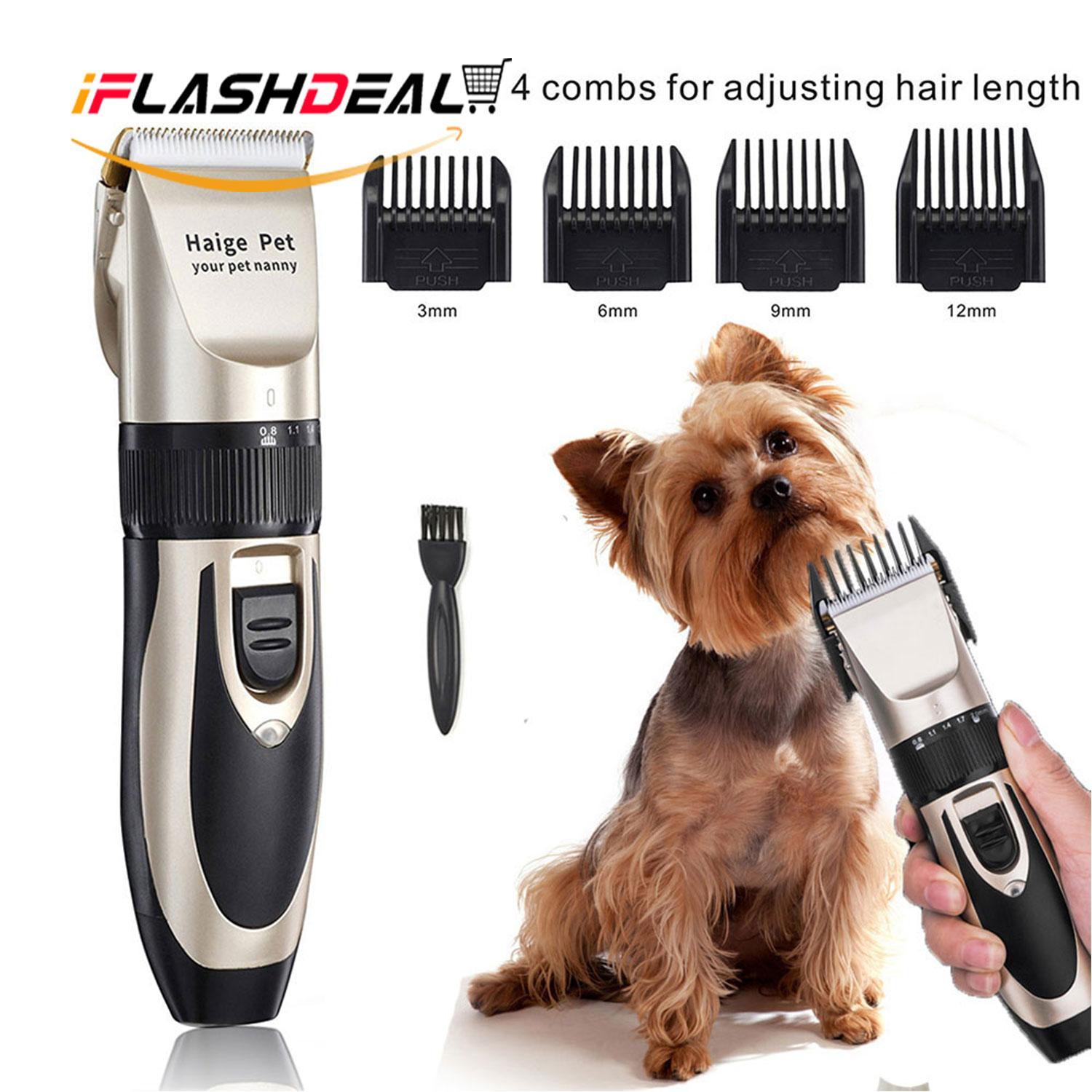 459da048cec iFlashDeal Pet Cat Dog Hair Trimmer Grooming Kit Electric Clippers Animal  Hair Clipper Shaver Set Haircut