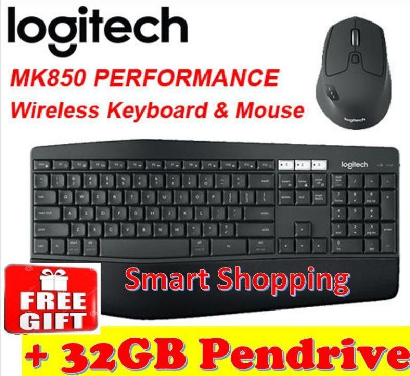 [Free gift] Logitech MK850 Keyboard Mouse Combo perfomance 920-008233 MK 850 100% Brand New Singapore