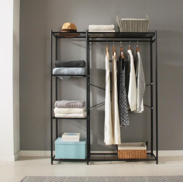 1-Tier 120cm Simple Modern Metal Clothes Rack