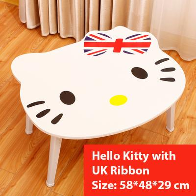 Hello Kitty with UK Ribbon Coffee Foldable Folding Computer Table