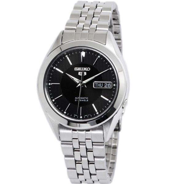 Seiko 5 Snkl23k1 Automatic Day-Date Black Dial Stainless Steel Mens Watch By Powermatic.