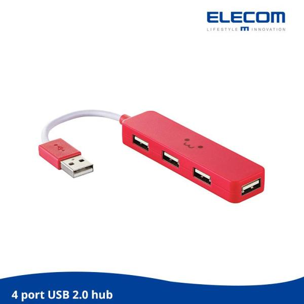 ELECOM 4 USB PORTS 4 Ports USB Hub / USB 2.0 high speed / For window and OS