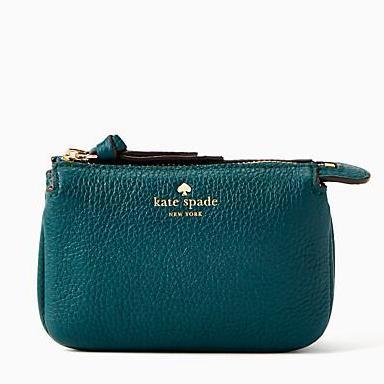 60856fba9 Authentic Kate Spade Larchmont Avenue Mini Natasha Coin/ Card Case (Emerald  Forest)