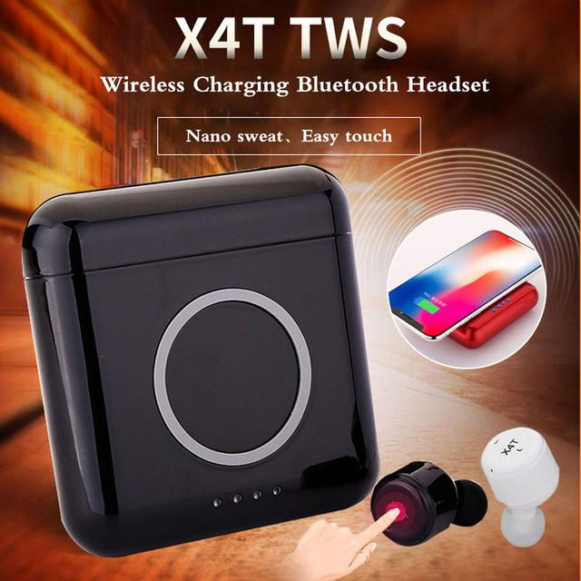 Review X4T True Wireless Bluetooth Twin Mini Earbuds Earpiece Headset Wireless Charger Black Oem On Singapore