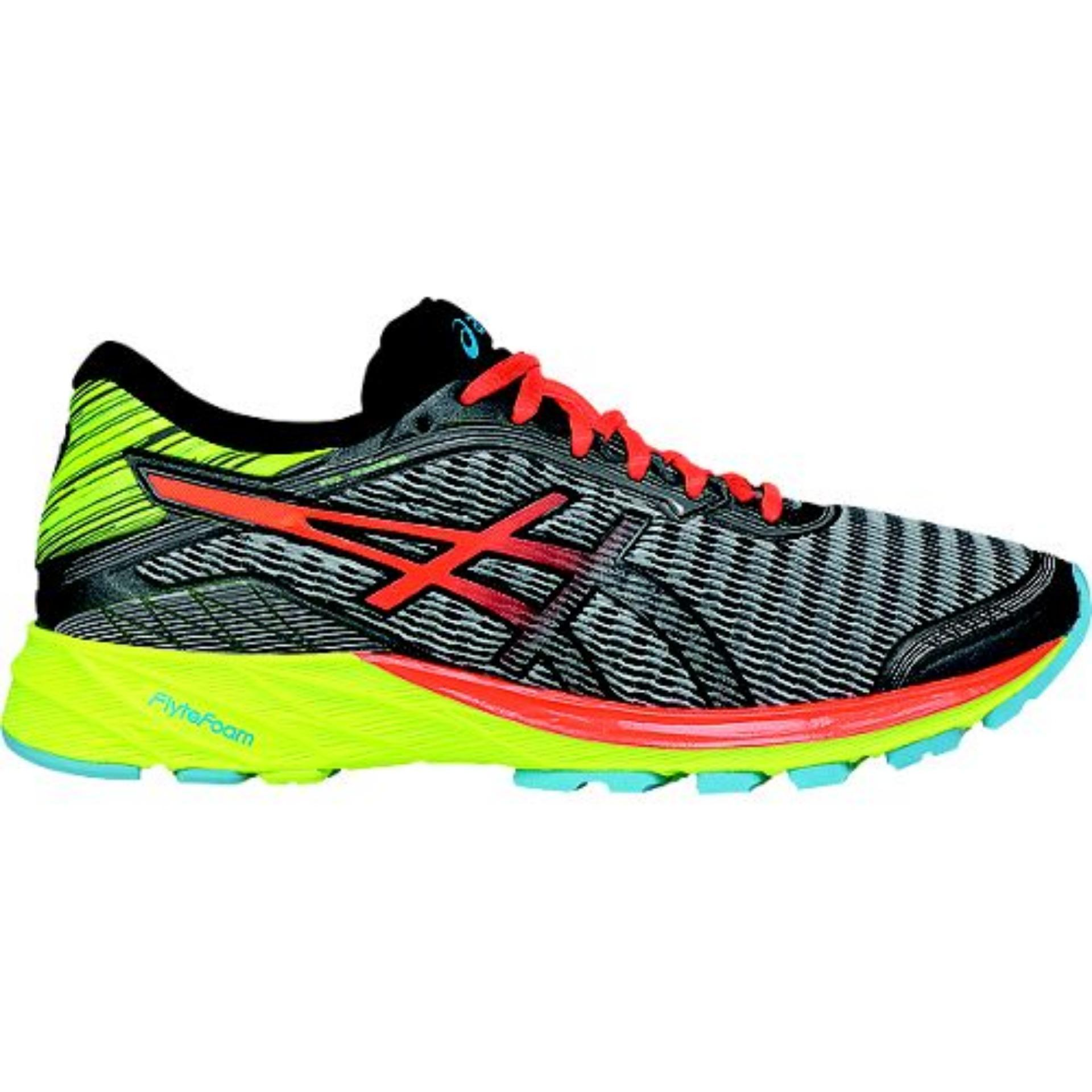 cheap for discount 0d7c0 2236b ASICS,DynaFlyte(MIDGREY FLASH CORAL SAFTY YELLOW)