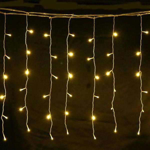 4M*0.6M LED Curtain fairy lights Warm white