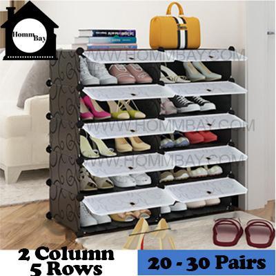 DIY Shoe Shoes Rack Storage Drawers Multi Purpose Modular Organizer Plastic Cabinets I BFTWF Series I 2 Column 5 Rows