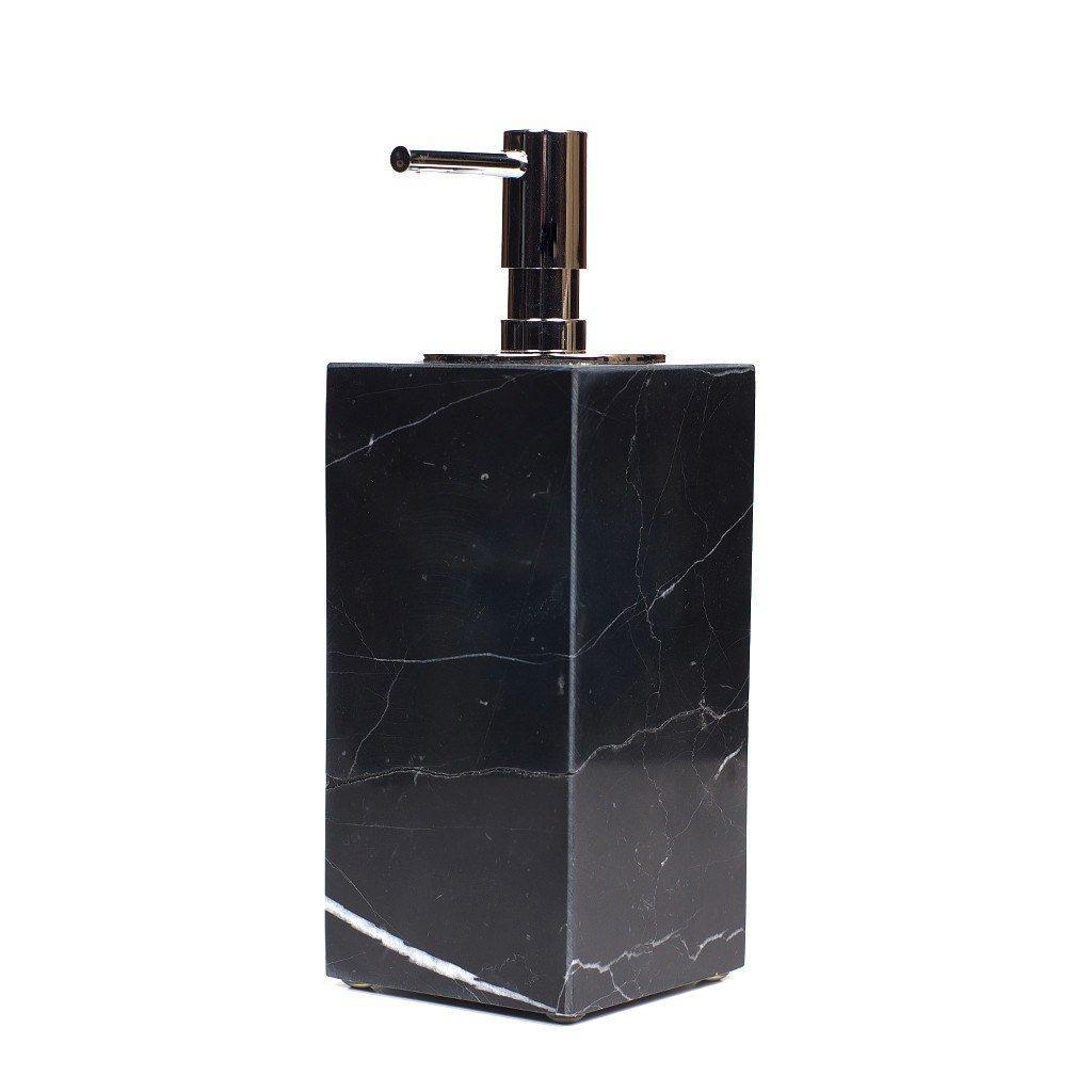 Sale Black Marbled Premium Designer Ceramic Soap Dispenser Online Singapore