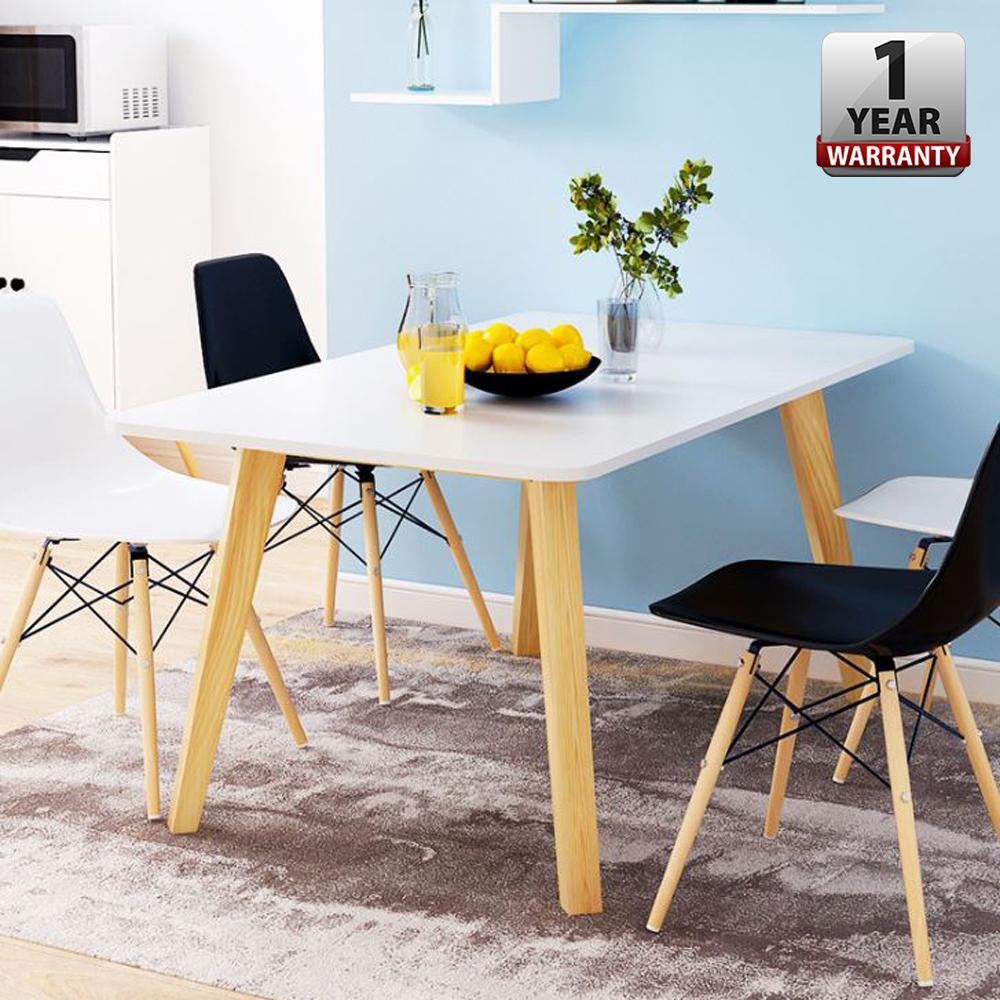 Alfaro [120 X 60 Cm] Creative Dining Table With Hevea Melamine Board By Casa Muebles.