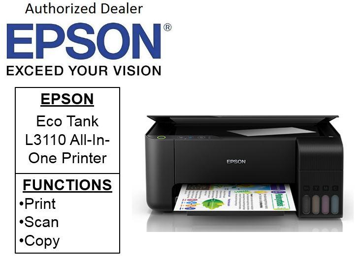Epson EcoTank L3110 ** Free $40 NTUC Voucher Till 25th May 2019 **  All-in-One Ink Tank Printer (Print,Scan,Copy) L 3110 Singapore